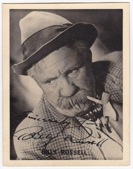 Billy Russell. Signed photograph