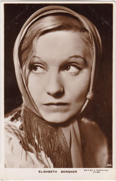 Elisabeth Bergner. British & Dominions Films. 96
