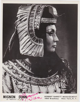 Mignon Dunn in Aida. Mezzo-soprano. Signed photograph