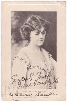 Irene Vanbrugh. Wrench Series 1324. Signed postcard