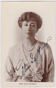 Ellis Jeffreys. Signed postcard