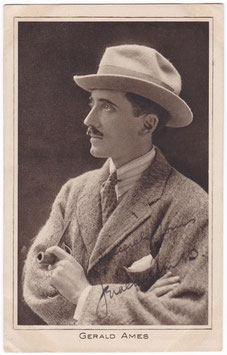 Gerald Ames. Pictures Portrait Gallery 18. Signed postcard