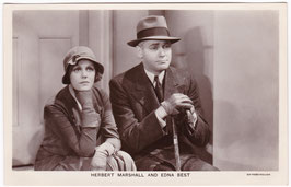 Herbert Marshall and Edna Best. Film Partners P 72