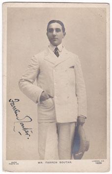 Farren Soutar. Rapid 1869. Signed postcard