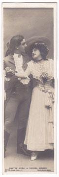 Walter Hyde and Decima Moore. Rotary 9735 bookmark