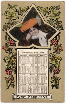 Marie Studholme. Calendar 1908. Millar & Lang