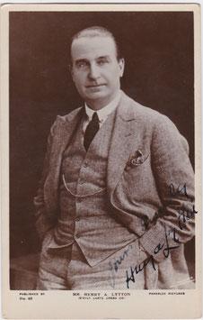 Henry Lytton. Parkslee 48. Signed postcard
