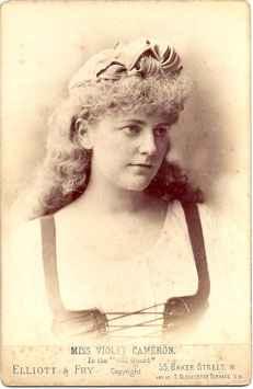 "Violet Cameron in ""The Old Guard"" Elliott & Fry cabinet photo"