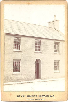 Henry Irving's birthplace. Keinton Mandeville. Cabinet photo