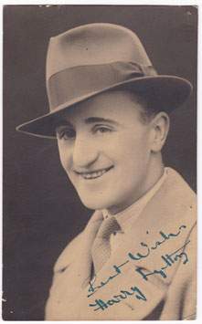Harry Lytton. Signed postcard