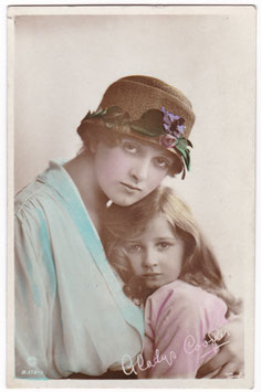 Gladys Cooper and daughter. Rotary B 172-1