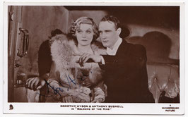 "Dorothy Hyson in ""Soldiers Of The King"" Signed postcard"