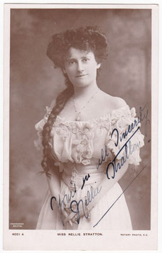 Nellie Stratton. Rotary 4021 A. Signed postcard