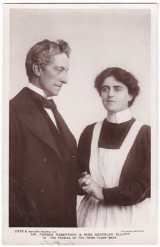 """Forbes Robertson and Gertrude Elliott """"The Passing Of The Third Floor Back"""" Rotary 2378 B"""