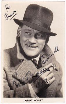 Albert Modley. Comedian. Signed postcard