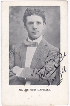 Arthur Randall. Humourist. Dated 1906. Signed postcard