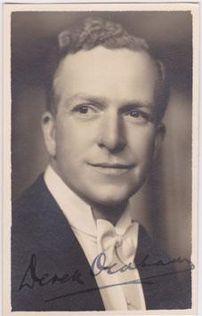 Derek Oldham. Signed postcard