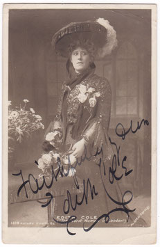 """Edith Cole """"The Worst Woman In London"""" Rotary 1618  Signed postcard"""