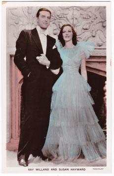 Ray Milland and Susan Hayward. Film partners PC 296