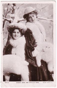 Zena and Phyylis Dare. Rotary 1843 P