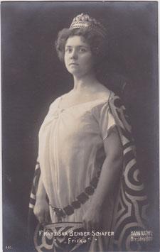 Franziska Bender Schäfer as Fricka. Hahn Nachfl 440