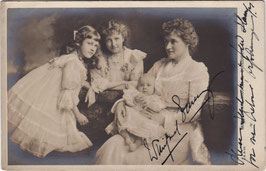 Winifred Emery and children. Beagles. Signed ppostcard