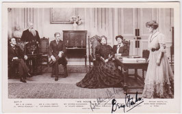 """Beryl Faber and Bella Pateman """"His House In Order"""" Rotary 3271 F. Signed postcard"""