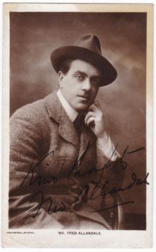 Fred Allandale. Protheroe, Bristol. Signed postcard