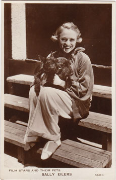 Sally Eilers. Film Stars And Their Pets 5843 I