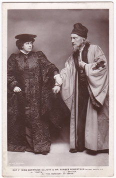 "Gertrude Elliott and Forbes Robertson ""The Merchant Of Venice"" Rotary 237 Y"