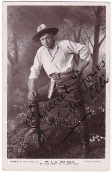 "A W Jack Ellis ""A White Man"" Rotary 4299 A. Signed postcard"