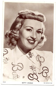 Betty Grable. Picturegoer W 527. Plain back