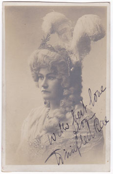 Winifred Rae. Signed postcard