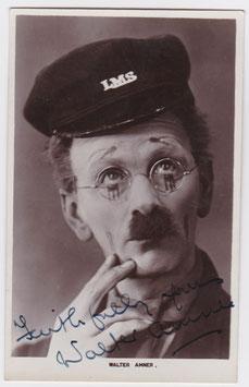 Walter Amner. Signed postcard