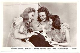 Deanna Durbin, Nan Grey, Helen Parrish, Charles Winninger. Picturegoer 1275