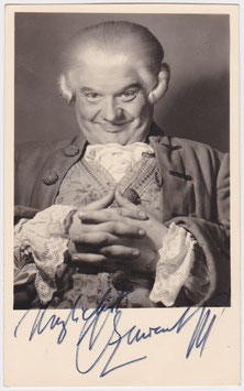 Oskar Czerwenka. Signed photograph