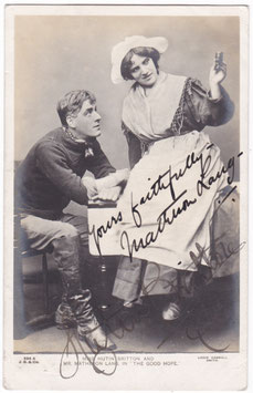 "Matheson Lang and Hutin Britton ""The Good Hope"" Beagles 294 A. Signed postcard"