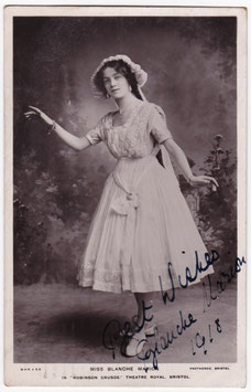 "Blanche Marion ""Robinson Crusoe"" Signed postcard"