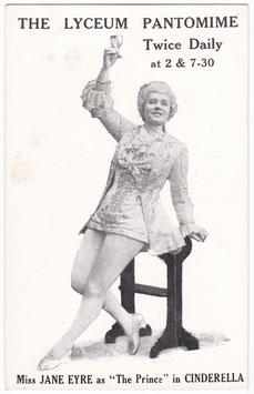Cinderella. Jane Eyre. Lyceum Pantomime. David Allen & Sons