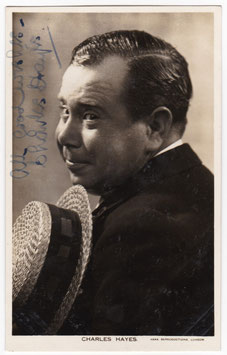 Charles Hayes. Signed postcard