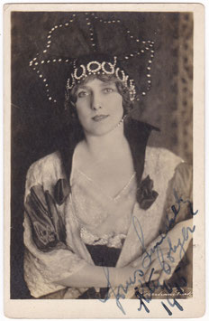 Kitty Colyer. Signed postcard