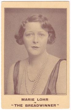 The Breadwinner. Marie Lohr. Vaudeville Theatre