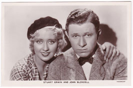 Stuart Erwin and Joan Blondell. Film Partners P 73
