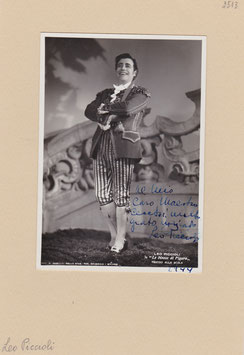 Leo Piccioli in The Marriage Of Figaro. Baritone. Signed photograph