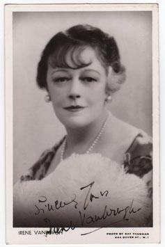 Irene Vanbrugh. Signed postcard