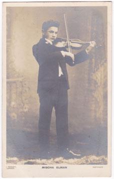 Mischa Elman. Child violinist