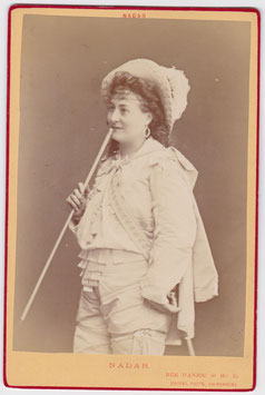 Alphonsine Helene Richard. Soprano. Nadar cabinet photo