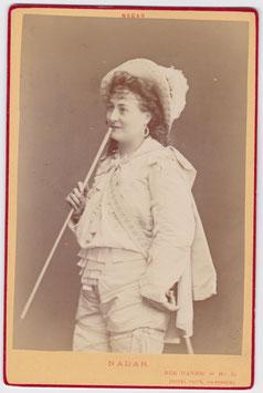 Alphonsine Helene Richard. Soprano. Nadar cabinet photo