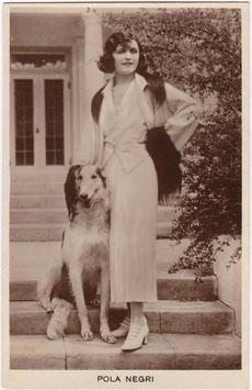 Pola Negri with dog.