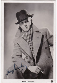 Barry Mackay. Tucks. Signed postcard